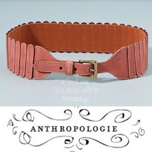 NWT ANTHROPOLOGIE Wide Tabby Belt Size S